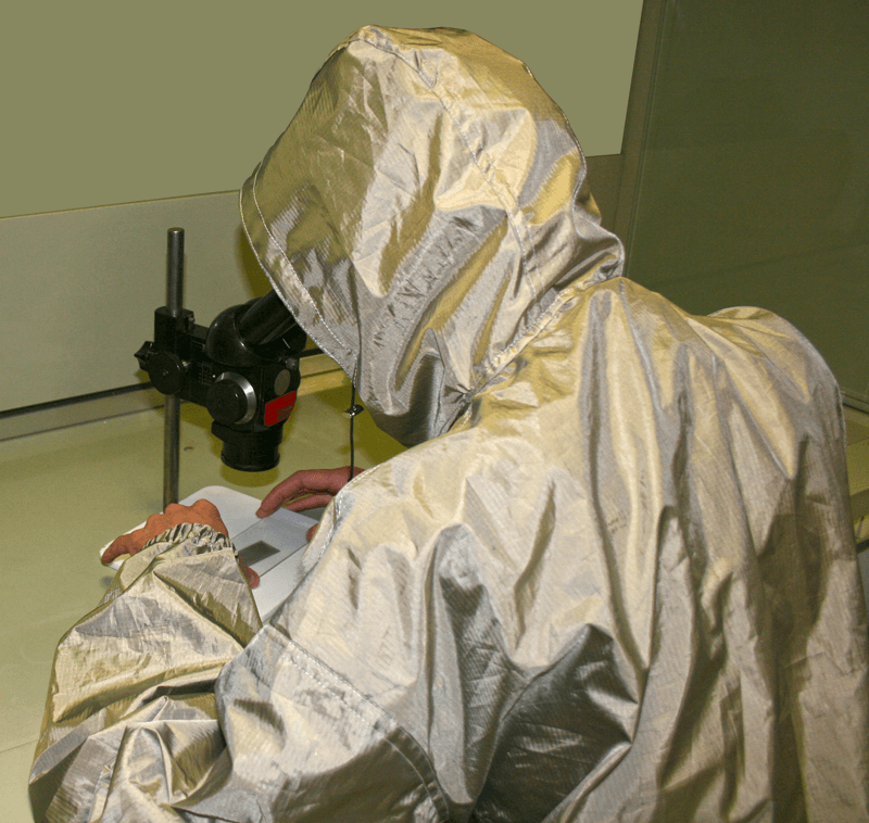 EMI/RFI shielding clothing