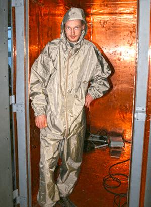 EMI/RFI shielded clothing