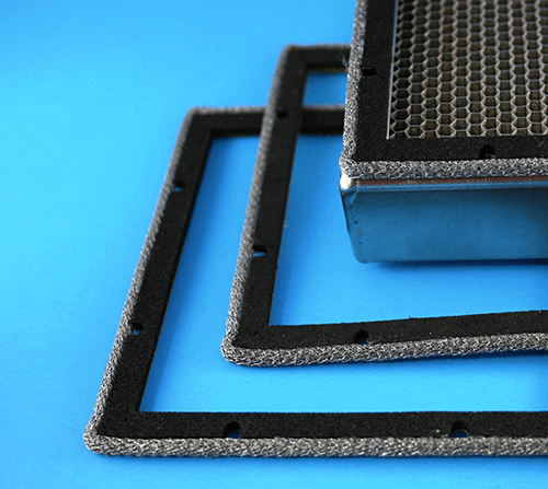 Metal knit EMI/RFI gasket combined with water seal
