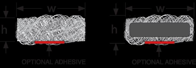 EMV Drahtgestrick Dichtung rechteckig technische Zeichnung