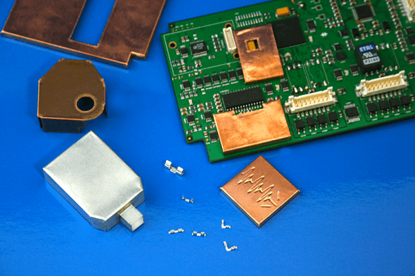 EMI shielding cans for printer circuit boards (PCB's)