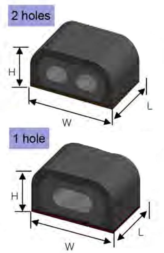 Getah Conductive PCB Shielding Gaskets boleh didapati dalam 1 dari 2 versi lubang
