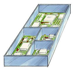 Illustration der Serie 1600 Feste PCB Schilde