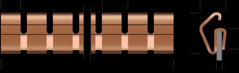 ベリリウム銅アングルフィンガーストリップ/フィンガーストローク2503 | EMI / RFIシールド用