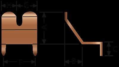 アングルフィンガストリップ2504-02および2504-06技術図面