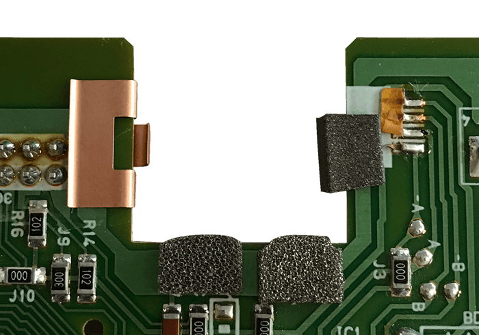 2700 series Contact fingerstrips on a PCB