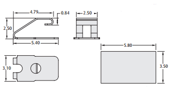 2901-02 series PCB spring Contact technical drawing
