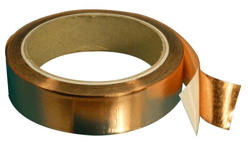 Electrically conductive copper tape for EMI/RFI shielding
