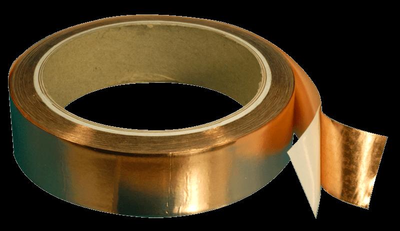 Mu-copper tape for EMI/RFI shielding