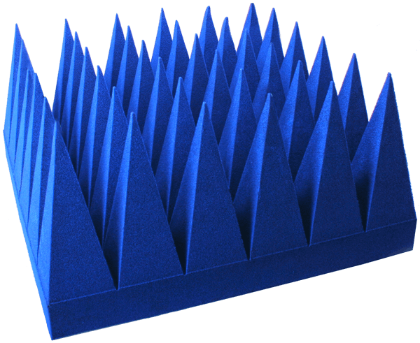 PU foam based pyramid absorbers