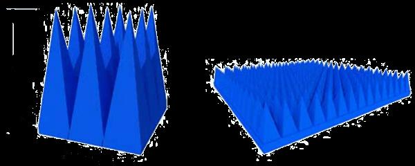 PU ফেনা ভিত্তিক পিরামিড absorbers প্রযুক্তিগত অঙ্কন
