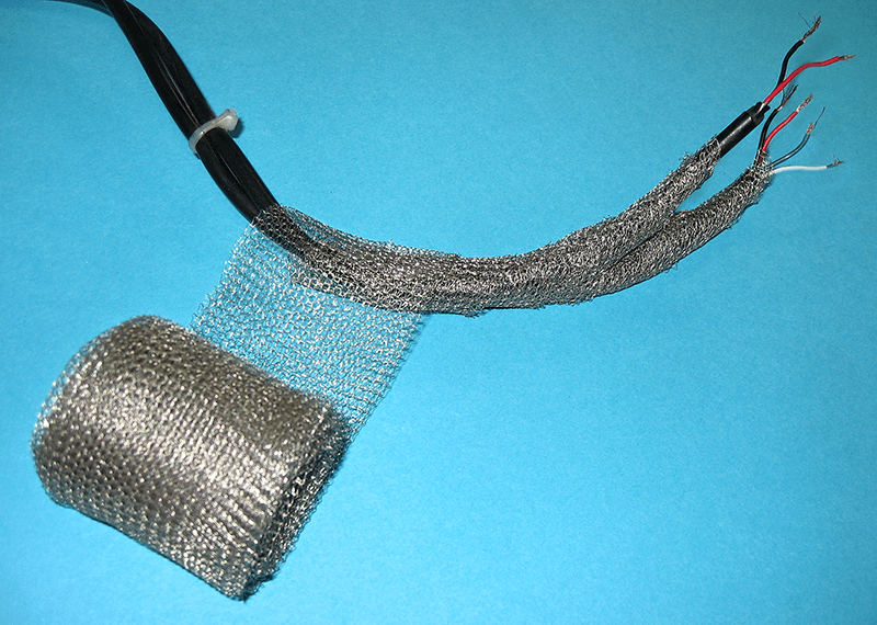 Wrapshield is used to shield, ground and statically discharge cables