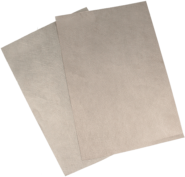 Conductive non-woven fabric is available in 0.19 and 0.30 mm thickness