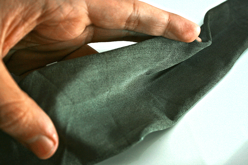 This conductive fabric is coated with a medical silver coating