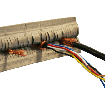 Cable entry shield