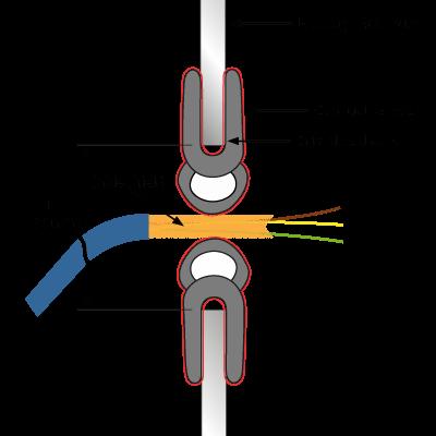 Kabeleinführung Schild technische Zeichnung