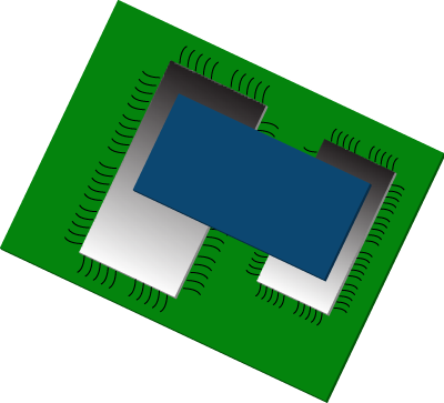 Flexible EMI absorber sheets Apply between integrated circuit