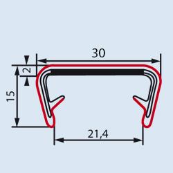 Partnumber 6512 | Clip-on EMI/RFI shielding gasket