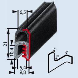 Partnumber 6551 | Clip-on EMI/RFI shielding gasket