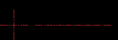 8060 series Feedthrough filtre teknisk tegning med dimensjoner