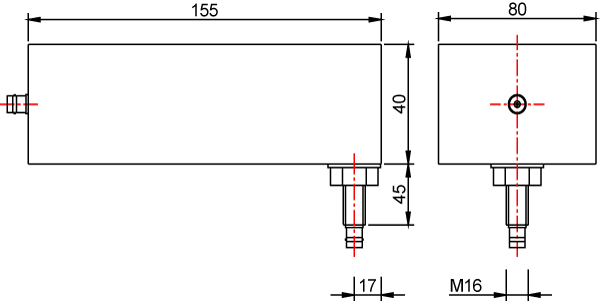 Signal line filters technical drawing dimensions