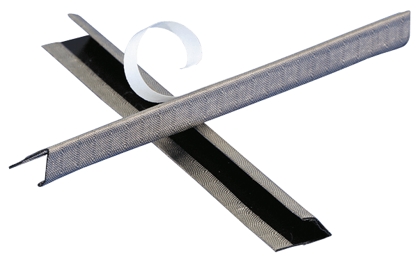 V-shaped gasket comes with a conductive adhesive for easy installation