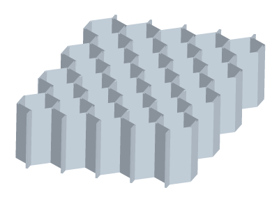 Standard honeycomb