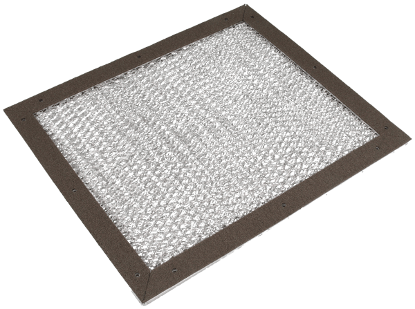 9510 series EMC Dust filter ventilation panel Frame A back with EMI gasket
