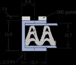 9520 Panel de ventilación de malla tejida EMC Marco A