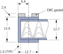 9520 EMC vevet ventilasjonspanel Ramme A