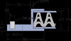 9520 Panel de ventilación de malla tejida EMC Marco B