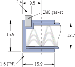 9520 EMC woven mesh ventilation panel Frame C