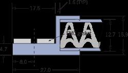 9520 EMC製のメッシュ換気パネルフレームD
