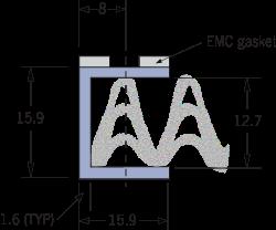 9520 Panel de ventilación de malla tejido EMC Marco E
