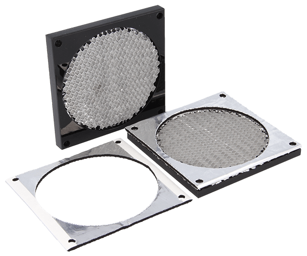 9530 series - Honeycomb fan shield can be delivered with an cut to size Amucor gasket