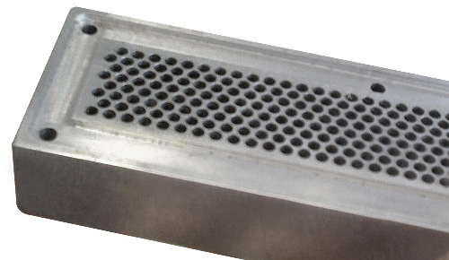 9540 series EMP ventilation panels can also be made with a groove (on request)