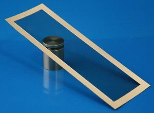 Transparente lámina de blindaje EMI con barra de plata