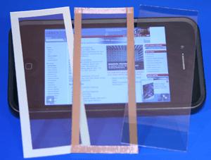 Transparent EMI shielding foil example picture