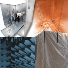 We offer Mu-copper Faraday cages, Prefabricated Faraday cages, Anechoic chambers and much more