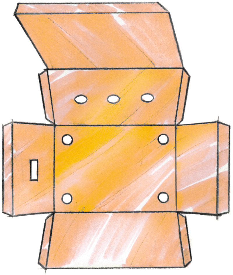 housing of shielding foil