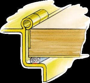 Gasket for wooden doors