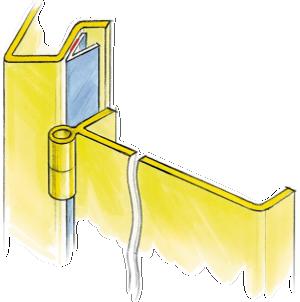 Gaskets for metal doors