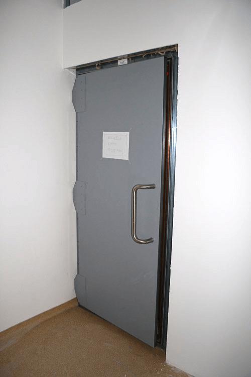 Faraday swing door
