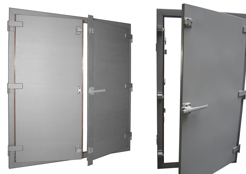 Double and single swing fingerstrip Faraday cage door  sc 1 st  Holland Shielding Systems & EMI/RFI/EMP shielded doors for Faraday cages and shielded room