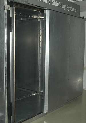 Heavy duty fingerstrip sliding door for Faraday cages & EMI/RFI/EMP shielded doors for Faraday cages and shielded room