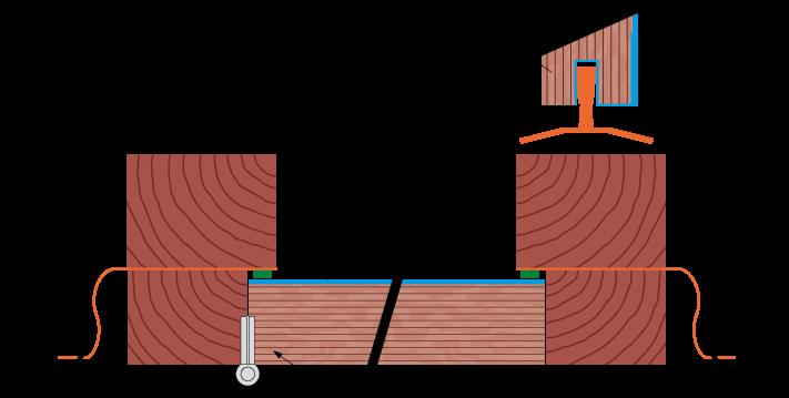 Wooden door technical drawing
