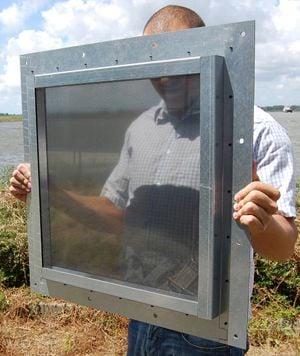 Heavy duty Faraday cage windows