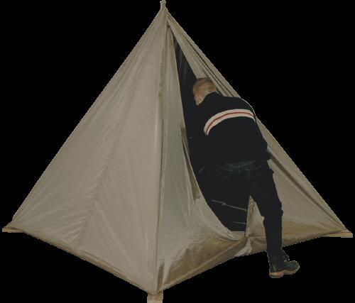 Példa kép egy piramis alakú Faraday sátor egyetlen kötél akasztani a mennyezet