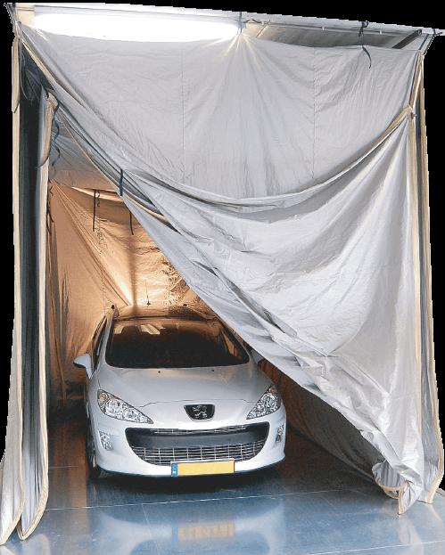 Példa kép egy Faraday sátor aka EMI árnyékolt sátor egy merev padló nagy terhelésű