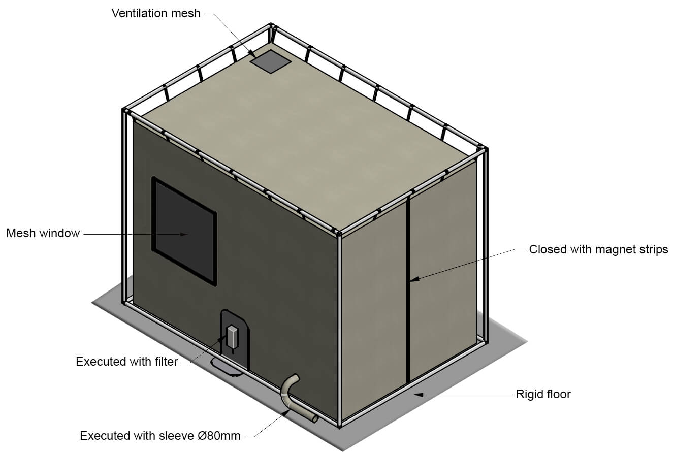 Faraday tent options  sc 1 st  Holland Shielding Systems & Faraday tent | EMI/RFI-shielding tent | Instant Faraday cage